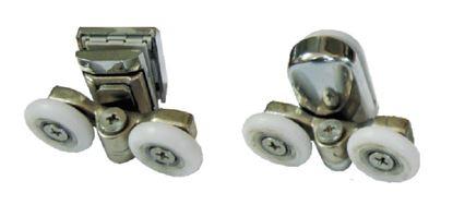 תמונה של סט גלגלים לדלת זזה פטנט 3 גלגלים