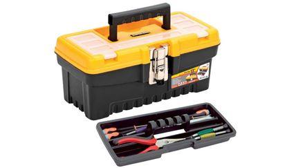 """תמונה של ארגז כלים """"19 מיקצועי צהוב"""
