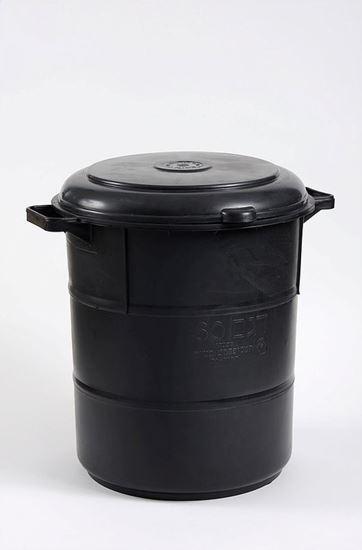תמונה של פח אשפה 60 ליטר שחור